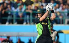 Shane Watson in action at the World T20 in India.