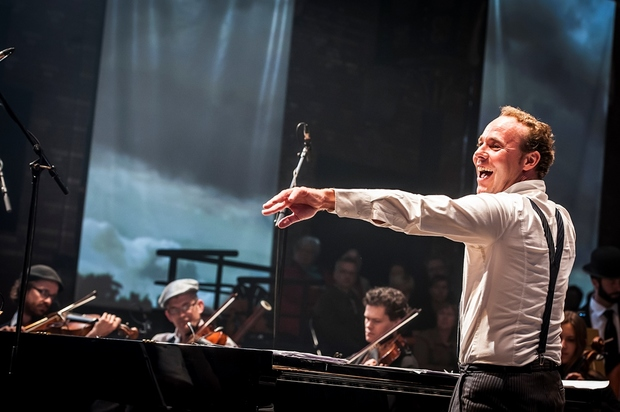 Belgian composer Jef Neve conducting his work 'In Flanders Fields: Jef Neve and the Endurance of the First World War'