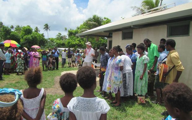 The new toilet block is opened in Paunangisu village, Efate.