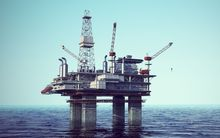 Offshore oil drilling platform - generic