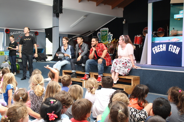 Members of New Zealand Opera answer questions from school children.