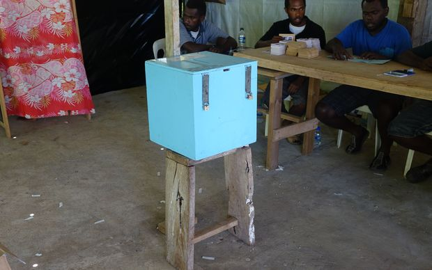 A polling station on Vanuatu's Efate Island for the 2016 snap election.