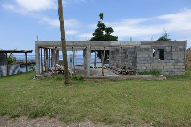 An abandoned building on the Vanuatu island of Tanna, which was damaged by cyclone Pam in March 2015.