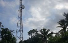 A radio mast on the Vanuatu island of Tanna.