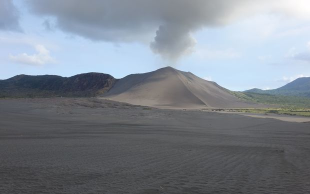 A desert of volcanic ash at the base of the constantly erupting Mr Yasur, on the Vanuatu island of Tanna.
