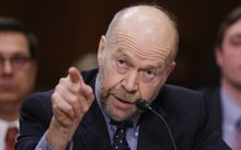 James Hansen testifies in 2014 during a hearing about the proposed Keystone XL pipeline which would carry tar sands oil from Canada to the United States.