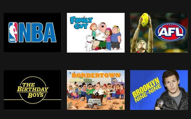 A screenshot from Duke's website shows a selection of the channel's shows.