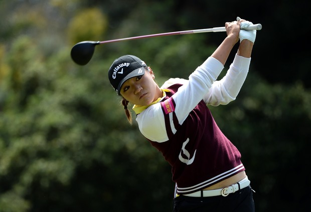 Lydia Ko tees off at the 2nd hole during the final round at Carlsbad.