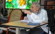 Fidel Castro, 89, in his home in Havana this month.