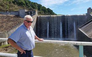 Wairoa mayor Craig Little by the Waihi Dam