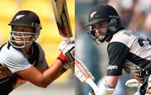 White Ferns captain Suzie Bates and Black Caps captain Kane Williamson