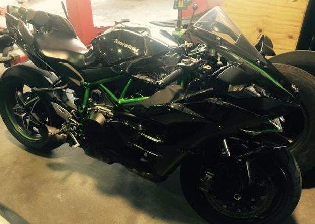 The 2015 Kawasaki Motorbike found after a major nationwide police operation against an alleged meth ring.
