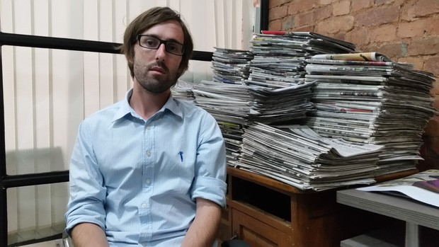 Thomas Kean, the editor of The Myanmar Times.