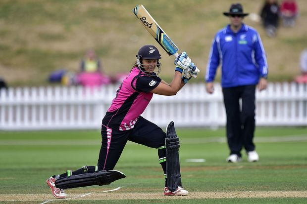 New Zealand's captain Suzie Bates during the 2nd Women's T20 International - New Zealand v Australia cricket match at the Basin Reserve in Wellington on Tuesday the 1st of March 2016.