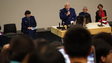 Joe Tipene speaking at a meeting at the University of Auckland on 1 April 2016 prompted by recent violent attacks on international students.