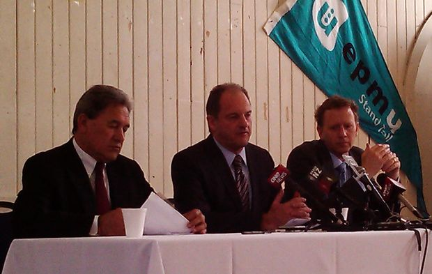 NZ First leader Winston Peters, left, Labour's David Shearer and Greens co-leader Russel Norman.