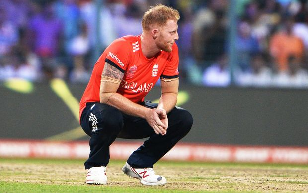 England allrounder Ben Stokes is disconsolate after the first four balls of his final over went for six as the West Indies win the T20 World Cup.