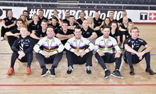 The New Zealand track cycling team at the recent world champs in London.
