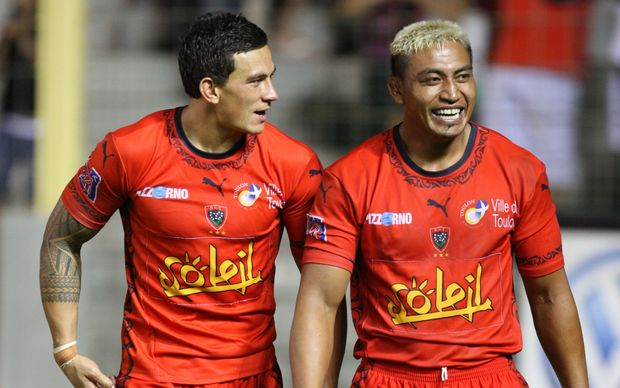 Sonny Bill Williams and Jerry Collins in Toulon in 2008.