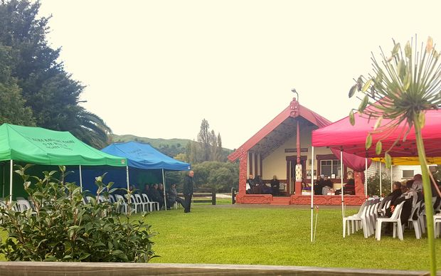 Mourners gather at Hiruharama marae to pay homage to Whairiri Ngata.