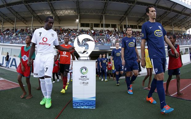 Suva FC and Auckland City during the 2015 OFC Champions League.