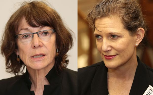 Inspector-General of Security and Intelligence Cheryl Gwyn, left, and SIS Director of Security Rebecca Kitteridge