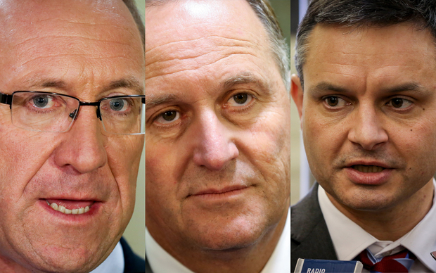 Andrew Little, John Key and James Shaw