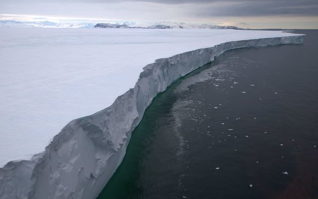 Two icebergs have broken off from the Nansen Ice Shelf since this photo was taken.