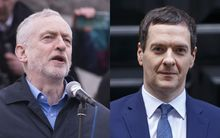 UK Labour leader Jeremy Corbyn and Chancellor George Osborne