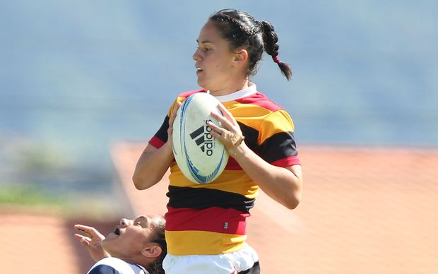 The new Cook Islands women's sevens coach Crystal Kaua during her playing days.