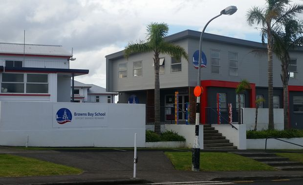 An entrance to Browns Bay School on the North Shore in Auckland.