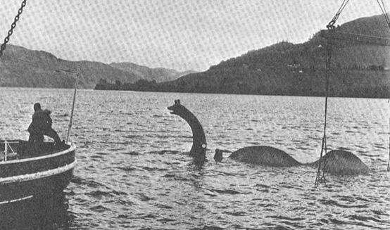 The long lost model of Nessie used during filming of 'The Private Life of Sherlock Holmes' released in 1970.