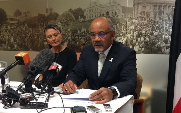 Māori Development Minister Te Ururoa Flavell, with Linda Te Aho from the Ministerial Advisory group.