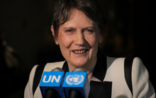 Helen Clark at the United Nations in New York, United States of America.