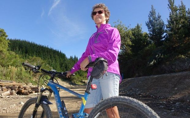 Nelson Tasman Cycle Trails Trust chair Gillian Wratt at the Spooners Tunnel