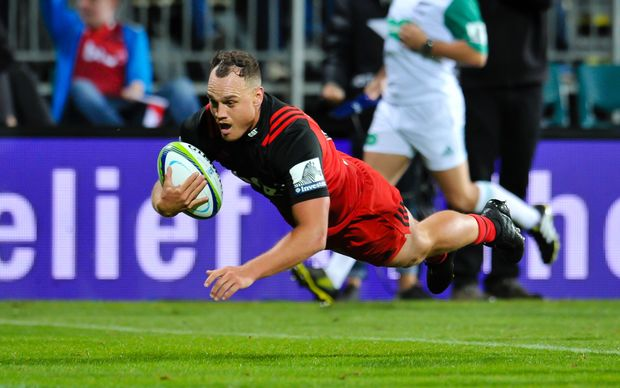 Israel Dagg scores a try in his Super Rugby return against the Jaguares.
