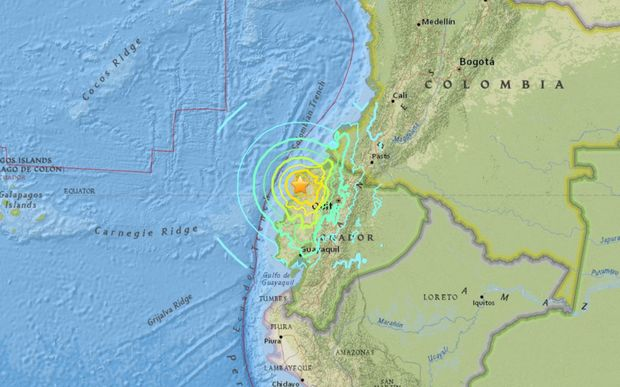 The 7.4 magnitude quake struck off the coast of Ecuador.
