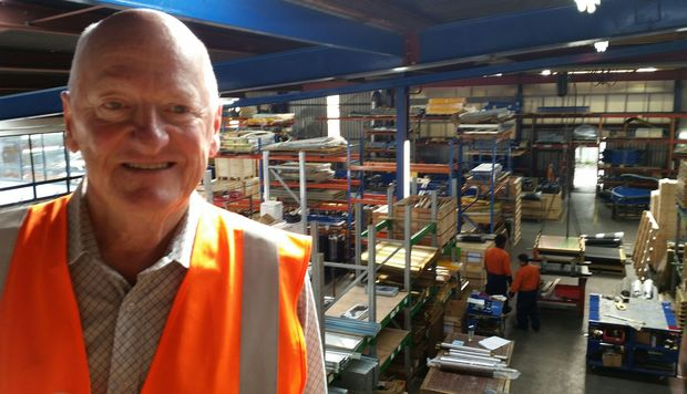 Glidepath's Sir Ken Stevens at his West Auckland factory.