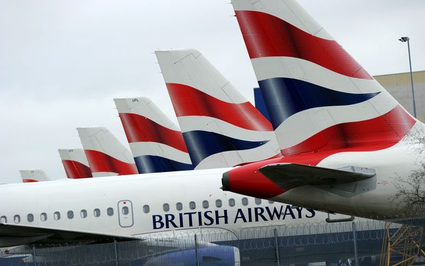 British Airways planes at Heathrow Airport September 2010.