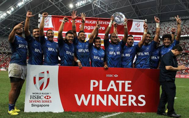 Samoa beat New Zealand to win the Plate title in Singapore.