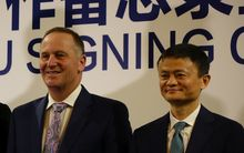 Prime Minister John Key meets with China's richest man Jack Ma.