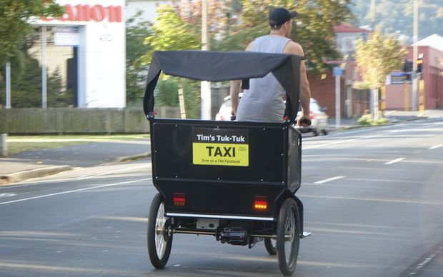 Tim Rogers, owner of Tim's Tuk-Tuk taxi service.