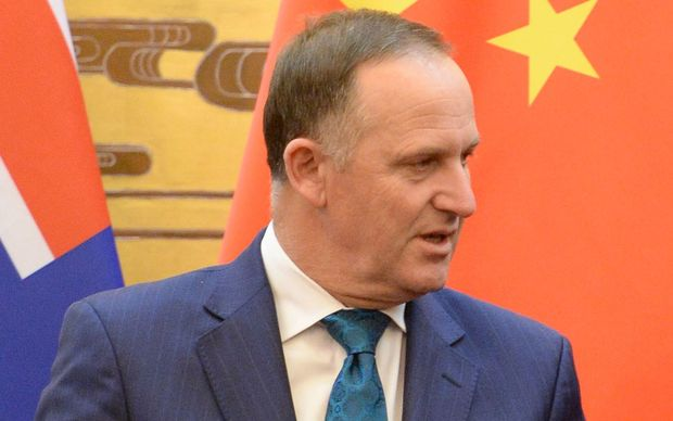 NZ Prime Minister John Key in China