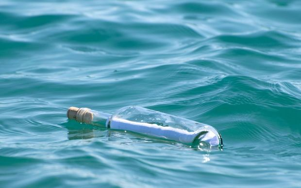 The bottle drifted on the North Sea for over 108 years (file photo).