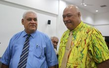 Ale Vena Ale, left, and the associate Minister of Communications and Information Technology, Lealailepule Rimoni Aiafi.