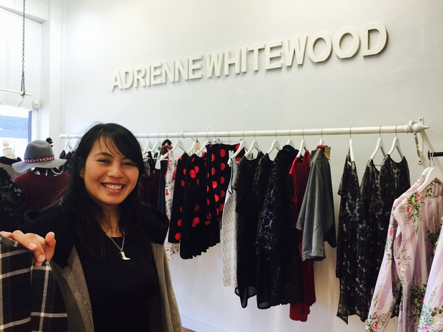 Adrienne Whitewood at her boutique store, Ahu.