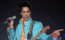 Prince at a Super Bowl half time concert in Miami in 2007.