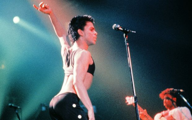 Prince, live in Paris in 1986.