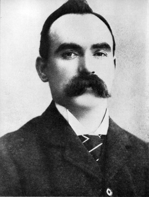 The rebel leader James Connolly who was executed by the British.