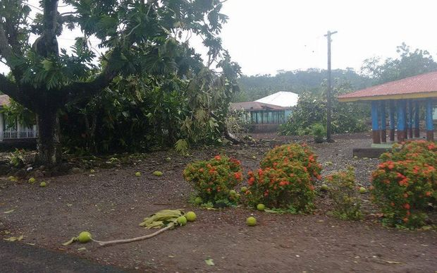 Overnight damage caused by tropical cyclone Amos